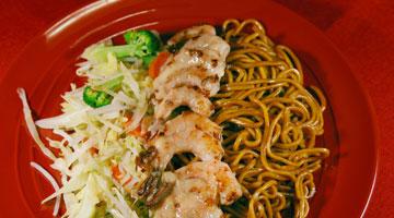 Hibachi Shrimp Noodle